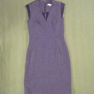 Sandro Paris grey and leather trim dress size 2
